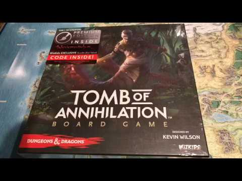 Unboxing the Tomb of Annihilation Board Game from Wizkids