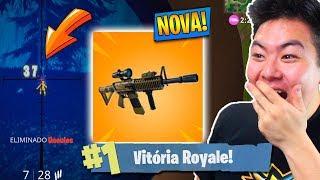 ENCONTREI A NOVA ARMA COM MIRA TÉRMICA E VENCI! - Fortnite Battle Royale