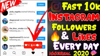 Fast 10k Instagram followers & likes everyday 2019 | Get Free Instagram followers & likes 🔥🔥