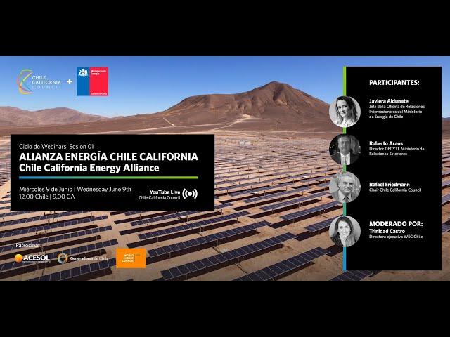 Webinar Alianza de Energia Chile California: Sesión 01