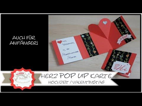 Pop Up Karte mit Herz - Hochzeitskarte - Valentinstagskarte - Stampin´Up!