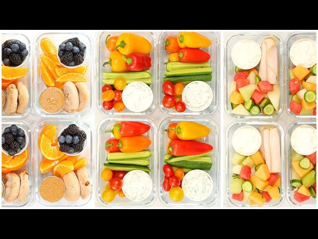 Healthy Snack Meal Prep | Back to School + Quick + Easy
