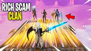 I tried out for the RICHEST SCAMMING Clan... (3 Scammer Gets Scammed) In Fortnite Save The World