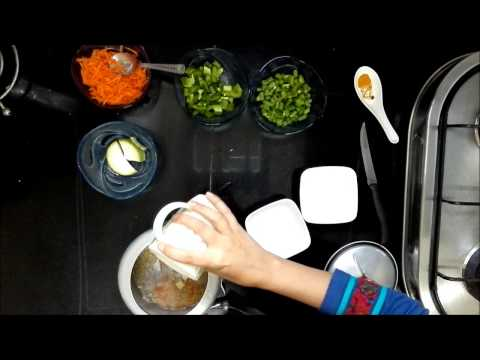 Video Indian Healthy Baby food Recipe -Moong Dal Vegetable Khichdi for babies (6-9 months+) (No salt)