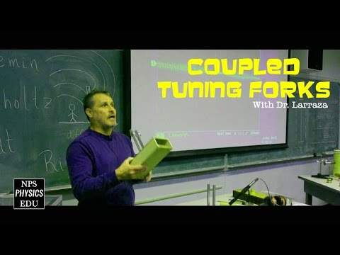 Tuning Fork Experiment  - Coupled Tuning Forks Demonstration