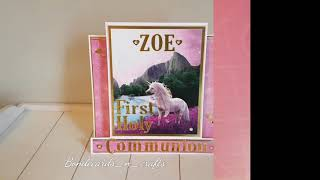 First Holy Communion Unicorn Card | 2019 | Blondecards_n_crafts