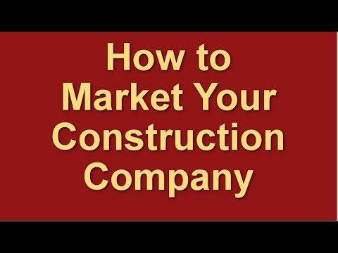 , title : 'How to Market a Construction Company   Marketing for Contractors   Marketing Plan Strategies