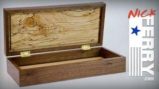 Ⓕ Walnut And Spalted Maple Keepsake Box (ep69)