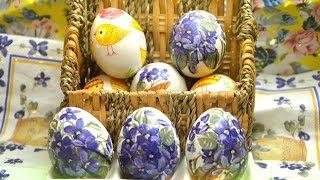 Миллион вариантов и оттенков Как Можно Украсить Яйца На Пасху. Лайфхак