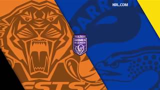 Tigers Vs Eels Round 20, 2017 Highlights