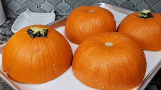 ROASTED PUMPKINS | How To Cook Pumpkins | Easy Baked Pie Pumpkins