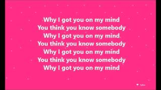 Ellie Goulding-On My Mind(Lyrics)