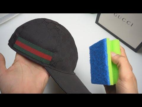 Wie man eine GUCCI CAP ✔️ waschen/reinigen kann!! 😱🤤