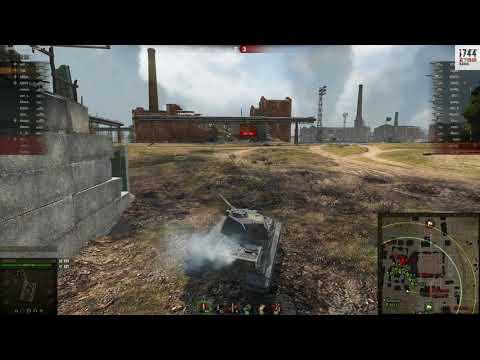 Бой на карте Промзона на Е50 от игрока i744