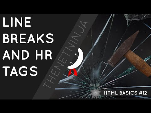 HTML Tutorial for Beginners 12 - HR and BR Tags