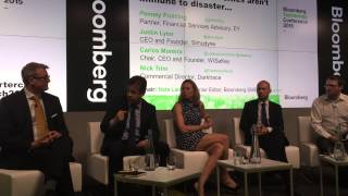 Carlos Moreira presenting smart cities at the Bloomberg Technology Conference: Smarter Cities