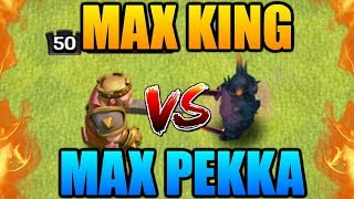 """MAX KING vs MAX PEKKA in """"Clash of Clans"""" - New Update Battle! Level 50 King vs Level 7 Pekka in CoC"""