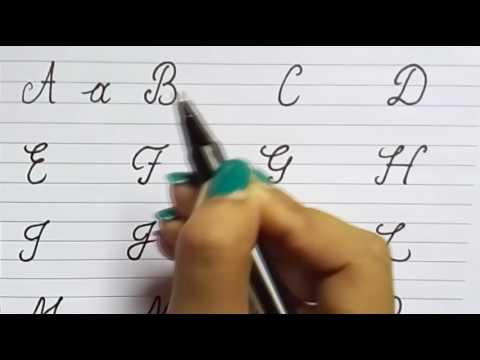 CURSIVE WRITING FOR BEGINNERS ♦ CURSIVE CAPITAL & SMALL ALPHABETS