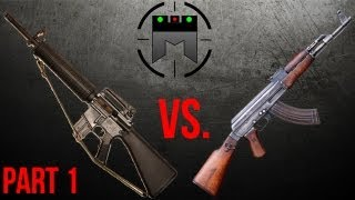 AR Vs AK Comparison With Champion Shooter Jerry Miculek Part 1