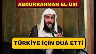 Çok Tatlı Amenerrasulu ve Türkiye İçin Dua (ALTYAZILI) عبدالرحمن العوسي