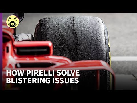 How do Pirelli's special thin tread tyres solve blistering problems?