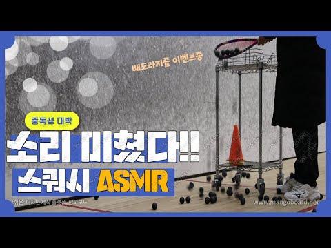 [영훈TV] 한번 들으면 못빠져나오는 스쿼시 공소리 ASMR/ 밀팜이 선물합니다! 배도라지즙 증정!!
