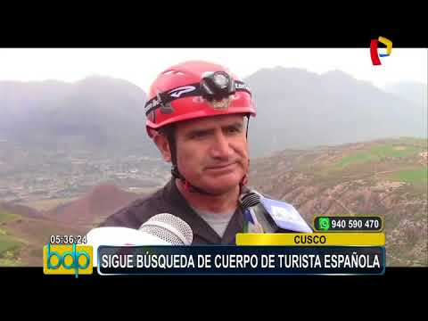 Cusco: continúa búsqueda de cuerpo de turista española