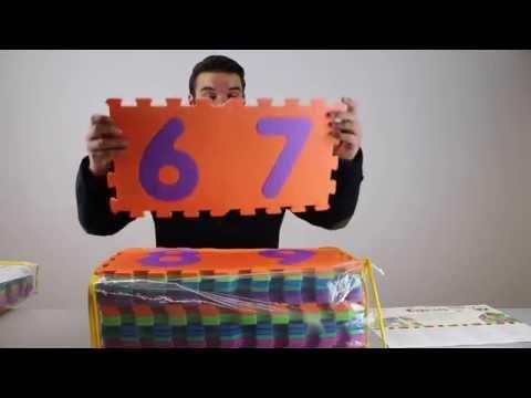 Playshoes Bodenpuzzle aus Schaumstoff (Zahlen & Buchstaben) | Unboxing