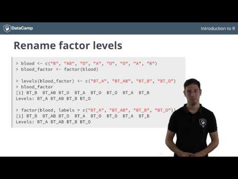 R tutorial – Using Factors in R