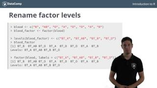 R tutorial - Using Factors in R