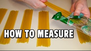 How To Measure One Portion Of Spaghetti You Need To Know
