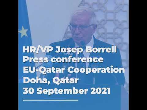 Press conference in Doha, Qatar | #01 EU-Qatar Cooperation | 30/09/2021