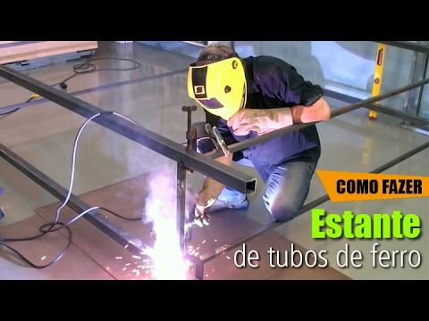 Estante de tubos de Ferro #DIY • Oficina de Casa