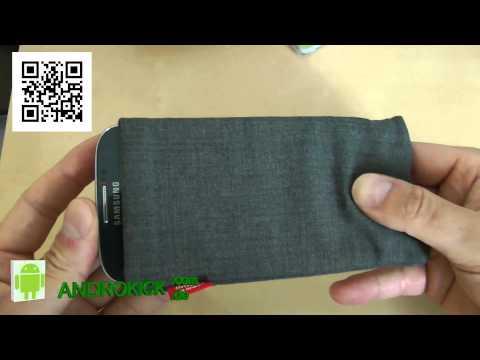 Samsung Galaxy S4 I9505 Fitbag Jive Grau Handytasche aus Textil-Stoff mit Microfaser