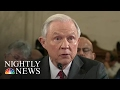 Attorney General Nominee Faces Questions On Racism, Civil Rights, Sexual Assault | NBC Nightly News