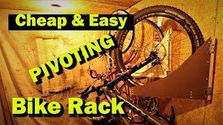 Hanging Bike Rack For Garage. Cheap And Easy DIY Storage