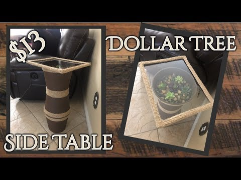 Dollar Tree Diy Side Table Night Stand Kelly Barlow Creations