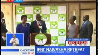 IEBC Naivasha retreat : They plan to strategize on repeat poll