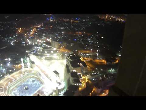 مشهد للكعبة من اعلى برج بمكة