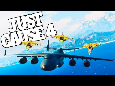 Planes Landing On Planes in Just Cause 4