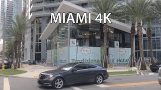 The tour on city streets. Video from Miami Florida USA.
