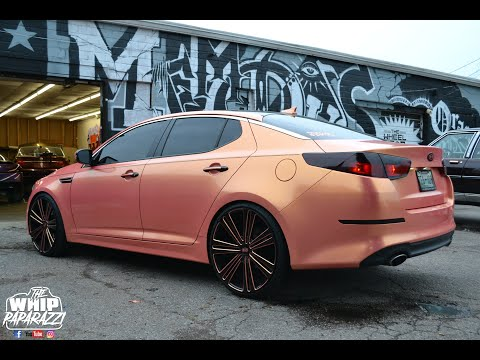 "Female Owned Wrapped Kia Optima on 22"" Wheels Done by Wrap Starz of Memphis"