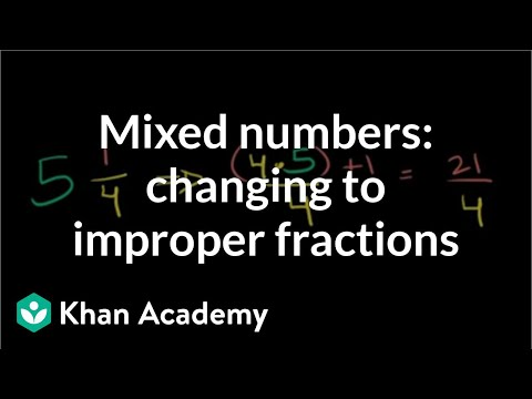 Writing mixed numbers as improper fractions (video) | Khan ...