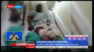 Ugandan rights activist protest the brutal torture of Andrew Kaweesi's murder suspects