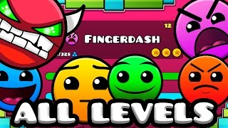 Geometry Dash 2.1 - All Levels 1-21 100% Complete [Latest Coins]
