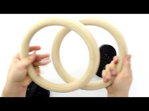Unboxing  FEMOR FS016 Gym Ringe Gymnastikringe Turnringe Holz Gymnastic Rings Crossfit Fitness