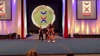 Team Norway   All Girl Group Stunt  ICU World Cheerleading Championship 2013