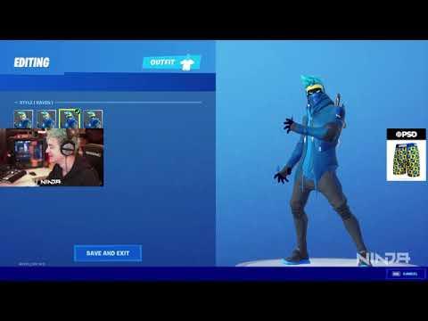 Ninja看到Fortnite上他的個人造型時的反應
