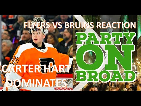 Philadelphia Flyers vs Boston Bruins Reaction I CARTER HART HAS ARRIVED