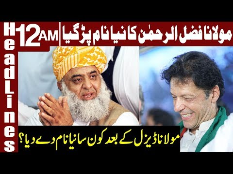 PM Imran Khan makes fun of Fazal-ur-Rehman | Headlines 12 AM | 25 April 2019 | Express News